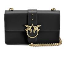 Women Accessories Pinko Love Bag Big Leather Black Chain Shoulder Bag