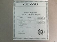 Danbury Mint Paperwork 1931 Ford Model A Convertible