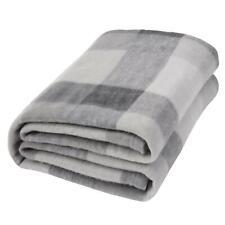 Dreamscene Tartan Check Throw Over Bed Warm Soft Blanket, Grey - 120 x 150 cm