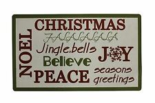 "28"" x 17"" Christmas Holiday Greeting Welcome  Mat Door Decor"