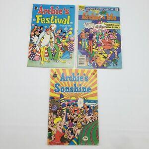 3 Vintage Archie Comics - Archie & Me 135, Archie's Sonshine, Archie's Festival