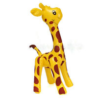 New Large Inflatable Giraffe Zoo Animal Blow Up Kids Toy Pool Party Decor MW