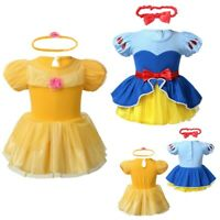 Infant Baby Girls Dress Halloween Princess Romper Fancy Dress Up Costume Outfits