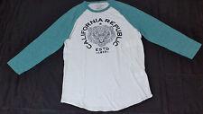 NWT Lucky Brand Raglan Style White & Green Graphic Baseball T-Shirt XLarge L1206