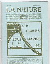 La Nature -Revue -N°2161-1915- Cables sous-marins...