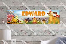 Personalized/Customized The Lion Guard Name Poster Wall Art Decoration Banner