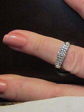 14k Diamond  Stacking Band. Stunning Vintage Two Tone Ring - .36 Cttw! Sz 6.75