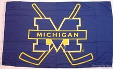 Michigan Wolverines Hockey Sticks 3' x 5' Flag / Banner New