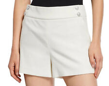 Size 6 VERONICA BEARD SHORTS Womens KIMM Ivory Cotton Off White NWT $350