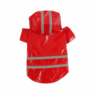 Puppy Dog Pet Rain Coat Reflective Waterproof Hooded Vest Jacket Outdoor Clothes