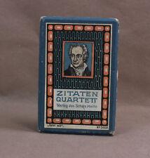 Zitaten Quartett Jos. Scholz Verlag Mainz No. 5058 2. Ausführung, hohe Schachtel