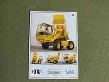 FIORI Mobile Self Propelled Concrete Mixers full range Brochure Prospekt