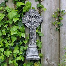 CROCE Celtica, UNIFICAZIONE, pietra da giardino muro appeso, regalo, Cornovaglia STONEWARE