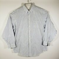 Brooks Brothers Mens Dress Shirt Button Up Long Sleeve 100% Cotton Size 18-36