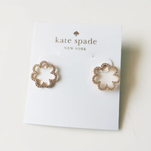 New Kate Spade CZ Floral Stud Earrings Gift Fashion Women Party Holiday Jewelry