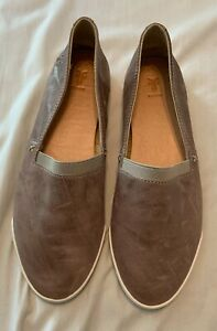 Frye Melanie Slip On Brown Flat Leather Shoes Size 6.5