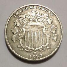 1883/83 DDO Shield Nickel, XF-AU, Rare & Better Grade, combined shipping
