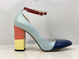 Thom Browne Womens Multicoloured Leather Ankle Strap Court Shoe UK Size 8