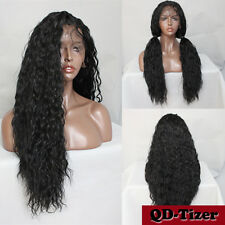 Brazilian Water Wave 200% Density Pre-Plucked Synthetic Lace Front Wig 24 Inch