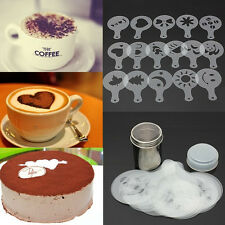 Stainless Steel Chocolate Shaker Duster 16x Cappuccino Barista Stencils JP ON KY