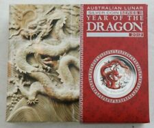 2012 Half Ounce Silver 50 Cents - Lunar Year of the Dragon - Colour