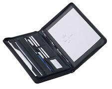Dermata echt Leder Schreibmappe Dokumentenmappe Mappe A4 mit Reißverschluss