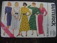 Uncut Vintage Butterick SEWING Pattern Misses Dress 6 8 10 4102 1986 OOP