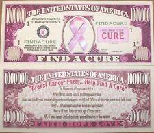 (25) Pink Breast Cancer Awareness Cure Ribbon - Million Dollar Money Bill Set