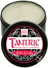 Tantric Soy Massage Candle With Pheromones White Lavender 4 oz