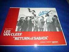 REINER SCHÖNE  signed Autogramm 20x25 cm In Person RETURN OF SABATA