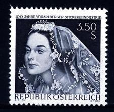 AUSTRIA - 1968 - Centenario dell'industria del ricamo nel Vorarlberg