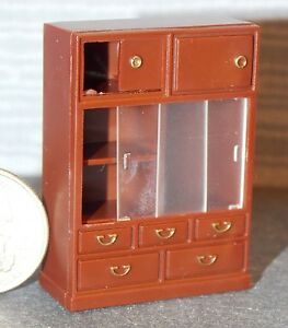 Dollhouse Miniature Cabinet Sliding Doors 1:24 half Scale F48A Dollys Gallery