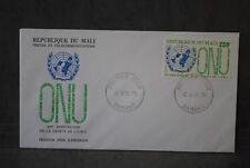 MALI Enveloppe 1er  jour 1975   30ème Anniversaire de la charte de L'O.N.U