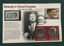 Kennedy Is Elected President Coin and Stamp Set