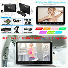10.1'' HD TFT LCD Screen Car Headrest Monitor DVD Game Player Kit USB/SD/HDMI/FM