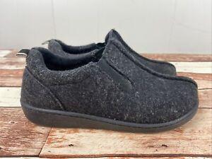HAFLINGER  Size 38 Black Wool Felt Shoes Slippers Loafers Woman's