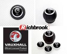 Richbrook Vauxhall con el logotipo de cuero Gear Perilla Normal Caja De Cambios Corsa Astra Insignia