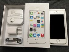 NEW Silver White iPhone 5S 16GB Factory Unlocked TMobile Straight Talk TRACFONE