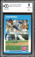 1987 Fleer Update #68 Greg Maddux Rookie Card BGS BCCG 9 Near Mint+