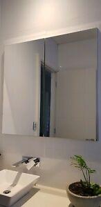 2 New Ikea bathroom double door mirrored cabinet 100x14x96cm