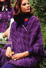 EASY PONCHO / 8ply or DK  - COPY Ladies crochet pattern