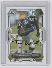 TERRANCE WILLIAMS Cowboys SIGNED 2015 Bowman Football #31 Autograph ON CARD AUTO