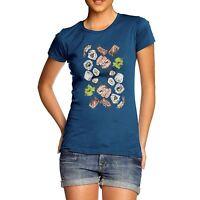 Women's Sushi Wasabi Pattern Premium Cotton T-Shirt