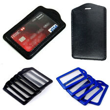 1-20 Pcs PU Leather Business ID Badge Card Holder Business ID Holder Vertical