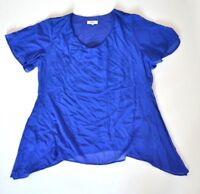 New Womens Blouse Royal Blue Size UK 20 Top RRP £79.00