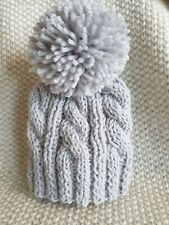 Toddler Kids Christmas Knitted Elf Hat Wavy Stripe Crochet Santa Cap Party Decor