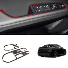 For Alfa Romeo Stelvio 2017-2020 carbon fiber Window lift panel switch trim 4pcs