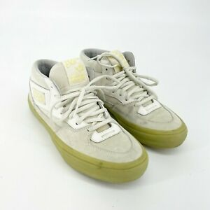Vans Mens Half Can Skate Shoes White Suede Size 9 Pyramid Country Sneakers