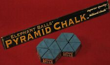 Cue Chalk ~ Elephant Balls PYRAMID CHALK ~ Color: BLUE  12- Pieces ~ In the BOX!