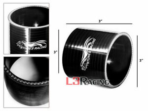 "Black 3.0"" 76mm3-ply Silicone Hose Coupler Turbo Intake Intercooler For Cadillac"